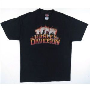 Harley-Davidson Motorcycles Aces Crew Neck T Shirt